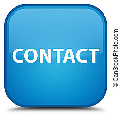 Contact special cyan blue square button