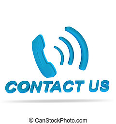 Contact us 3D button