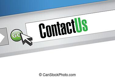 contact us browser illustration design artwork