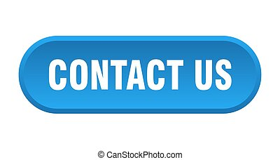 contact us button. contact us rounded blue sign. contact us