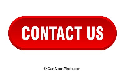 contact us button. contact us rounded red sign. contact us