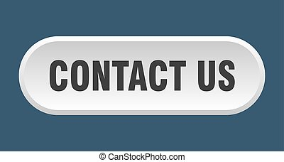contact us button. contact us rounded white sign. contact us