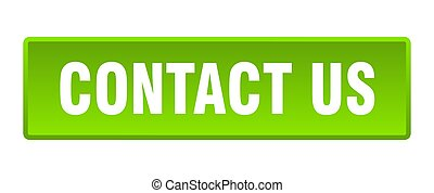 contact us button. contact us square green push button