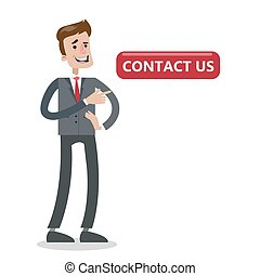 Contact us button.