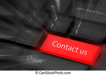 Contact us button keyboard