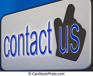 Contact Us Button Shows Help And Guidance