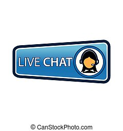 Contact us button with women icon for feedback. coordinates and address for customer support and extra information