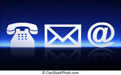 Contact us, by phone, mail or internet concept