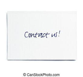 Contact us! card