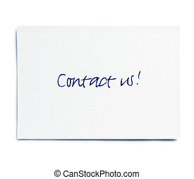 Contact us! card