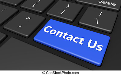 Contact Us Computer Key Button