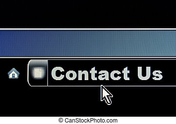 Contact Us Concept - Contact Us concept for an internet...
