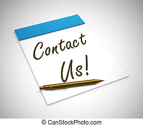 Contact us concept icon means connecting to helpdesk - 3d illustration