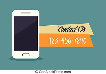Contact us concept. Vector illustration.