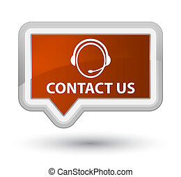 Contact us (customer care icon) prime brown banner button