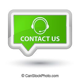 Contact us (customer care icon) prime soft green banner button