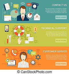 Contact Us Customer Support Banners - Contact us customer...