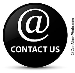 Contact us (email address icon) black round button
