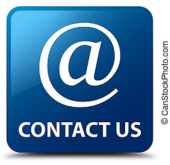 Contact us (email address icon) blue square button