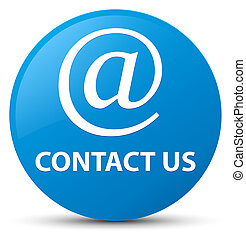 Contact us (email address icon) cyan blue round button