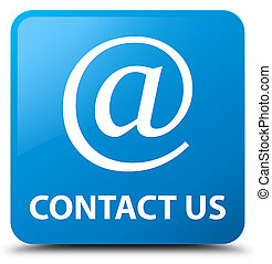 Contact us (email address icon) cyan blue square button
