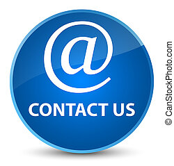 Contact us (email address icon) elegant blue round button