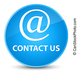 Contact us (email address icon) elegant cyan blue round button