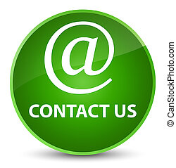 Contact us (email address icon) elegant green round button
