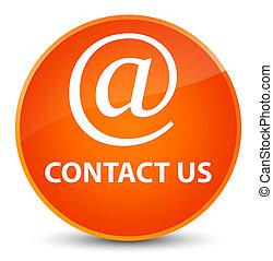 Contact us (email address icon) elegant orange round button