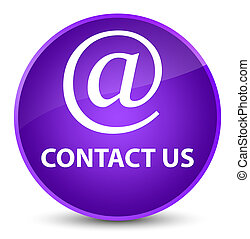 Contact us (email address icon) elegant purple round button