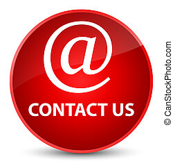 Contact us (email address icon) elegant red round button