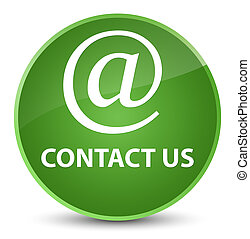 Contact us (email address icon) elegant soft green round button