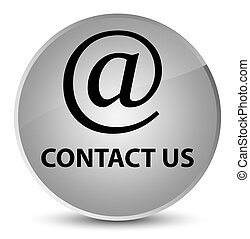 Contact us (email address icon) elegant white round button