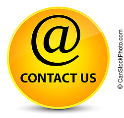 Contact us (email address icon) elegant yellow round button