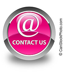 Contact us (email address icon) glossy pink round button