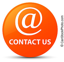 Contact us (email address icon) orange round button