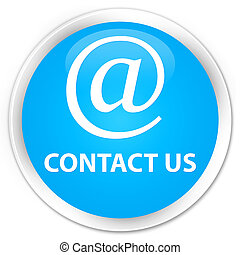 Contact us (email address icon) premium cyan blue round button