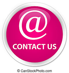 Contact us (email address icon) premium pink round button