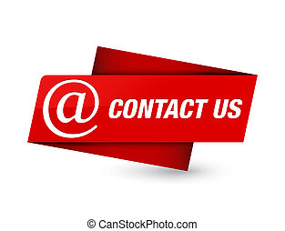 Contact us (email address icon) premium red tag sign