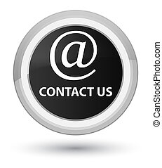 Contact us (email address icon) prime black round button