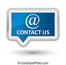 Contact us (email address icon) prime blue banner button