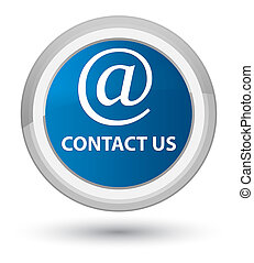 Contact us (email address icon) prime blue round button
