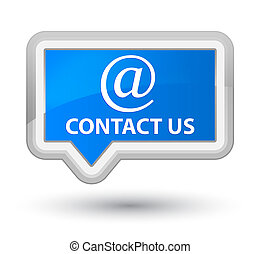 Contact us (email address icon) prime cyan blue banner button
