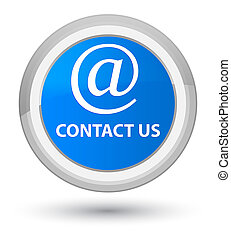 Contact us (email address icon) prime cyan blue round button