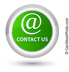 Contact us (email address icon) prime green round button