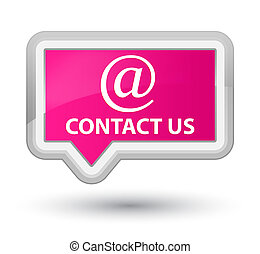 Contact us (email address icon) prime pink banner button