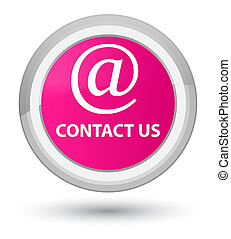 Contact us (email address icon) prime pink round button