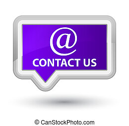 Contact us (email address icon) prime purple banner button