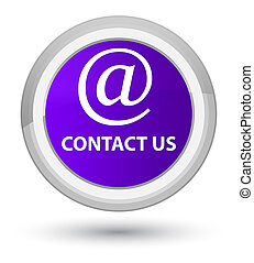 Contact us (email address icon) prime purple round button