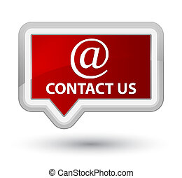 Contact us (email address icon) prime red banner button